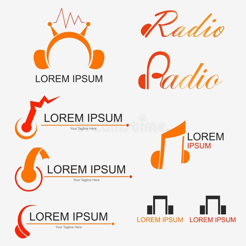 Radiowy logo royalty ilustracja
