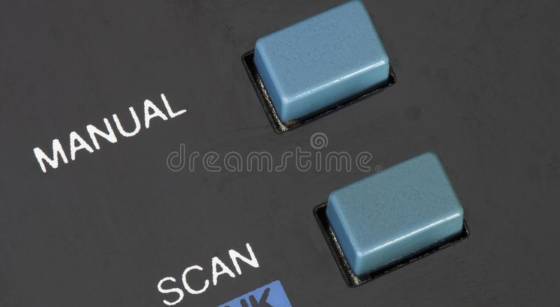 Radiowy ręczny guzik obraz stock