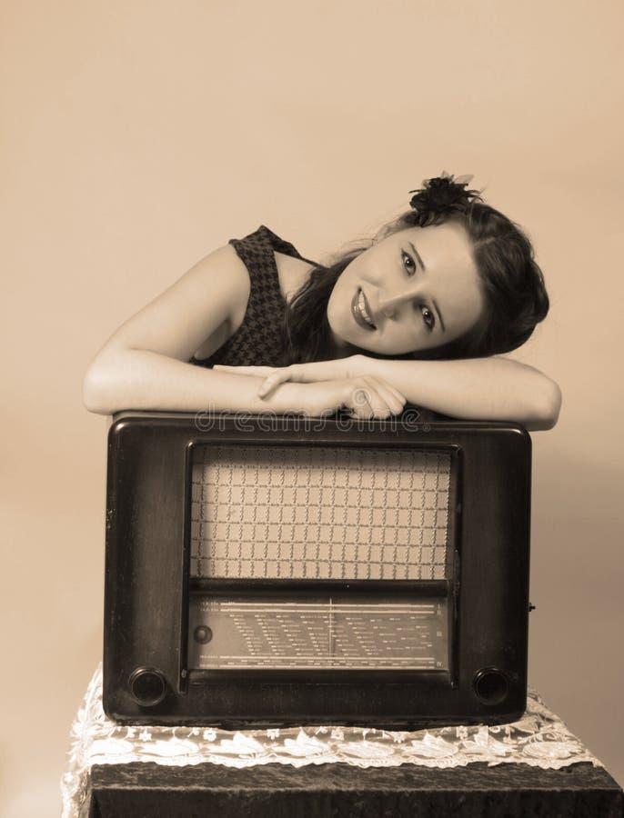 radiowy retro obrazy stock