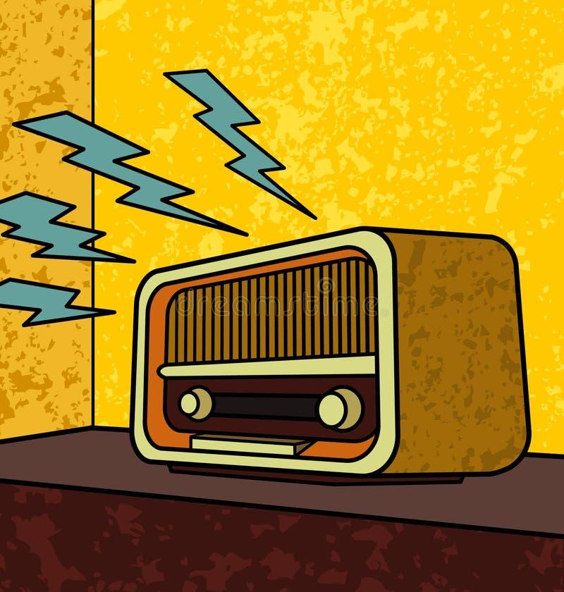 radiowy retro ilustracji