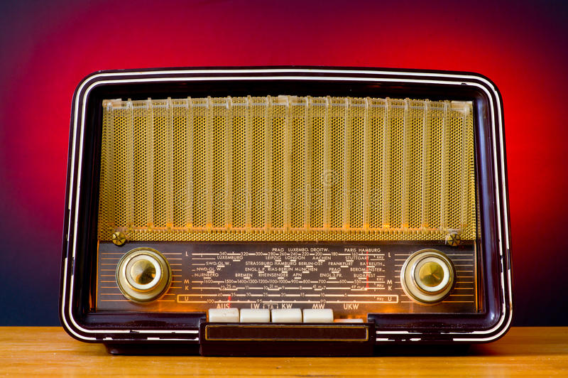 radiowy rocznik fotografia royalty free