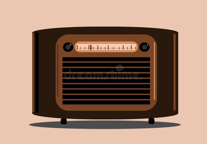radiowy rocznik ilustracja wektor