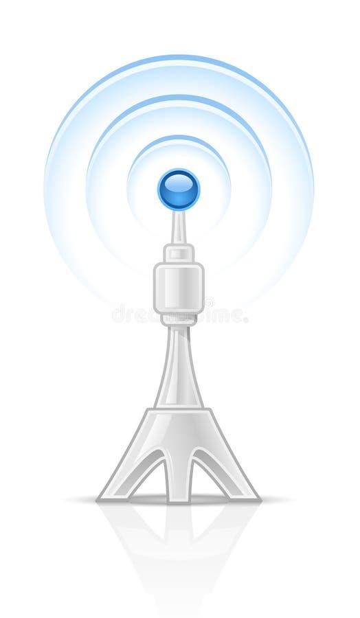 radiowy wierza royalty ilustracja