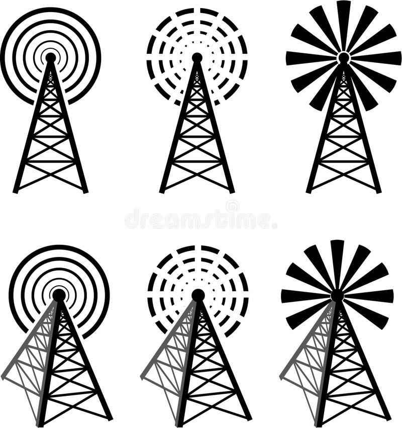 Radiowy wierza ilustracji