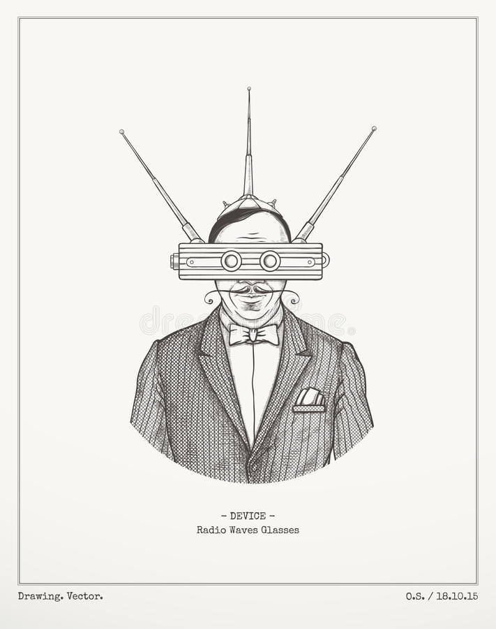 Radiowych fala szkła royalty ilustracja