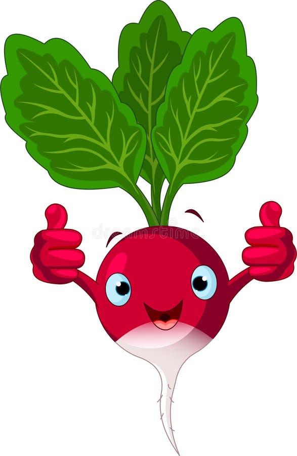 Radish Character  Giving Thumbs Up Stock Image