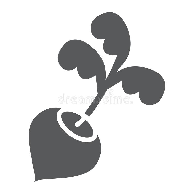 Radish glyph icon, vegetable and diet, beetroot. Sign, vector graphics, a solid pattern on a white background, eps 10 vector illustration