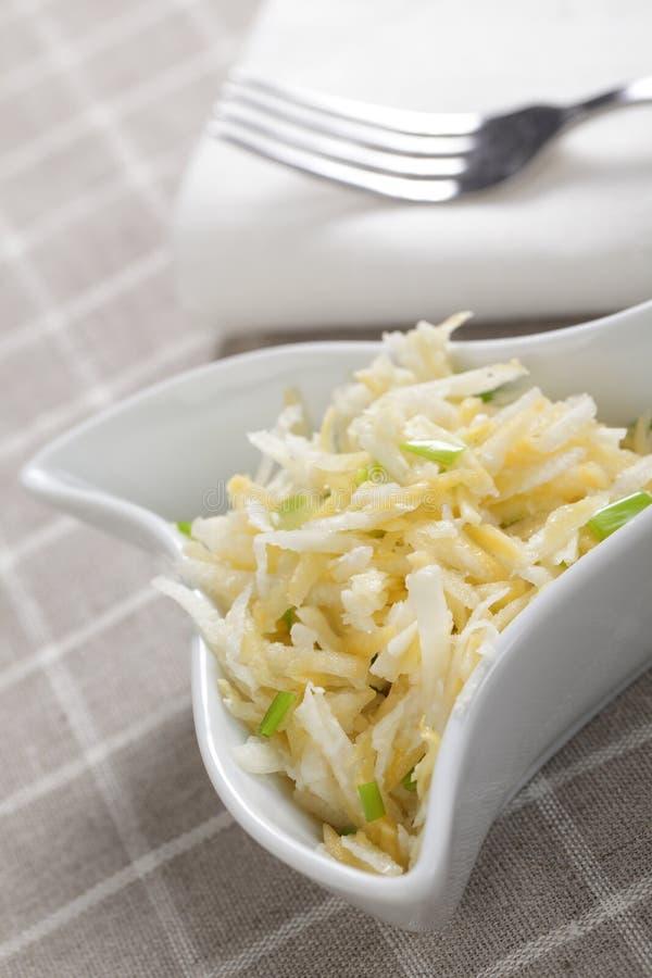 Radish and turnip salad stock photo