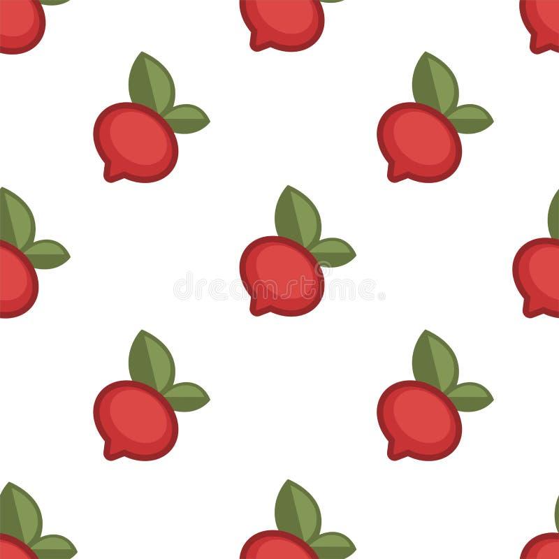 Radish vegetable agriculture and harvest seamless pattern vector illustration