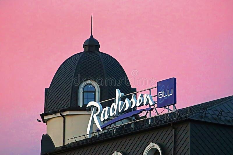 Radisson Blu Hotel Kyiv Podil wordt gevestigd in het historische district van de stad - Podil, Kyiv, de Oekraïne stock fotografie