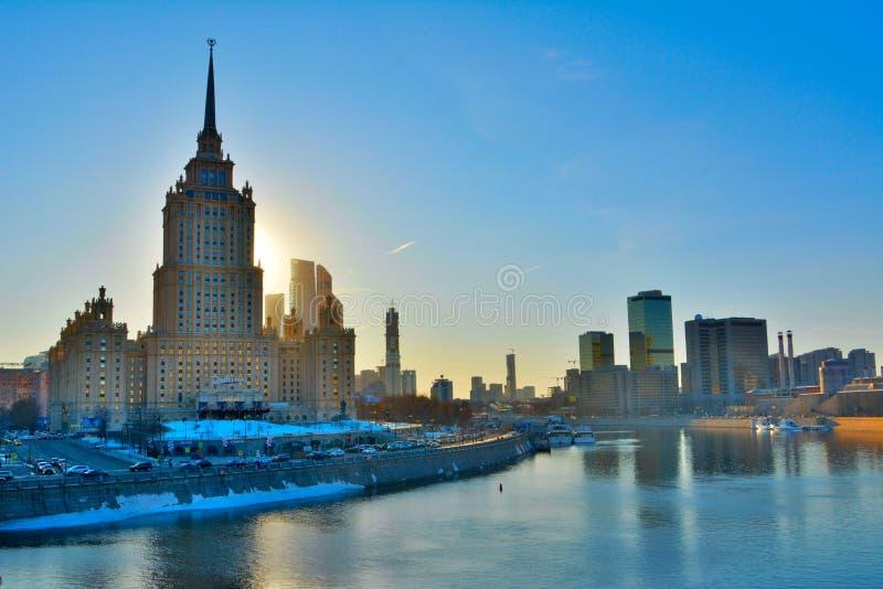 Radissonhotel in Moskou, Rusland royalty-vrije stock foto