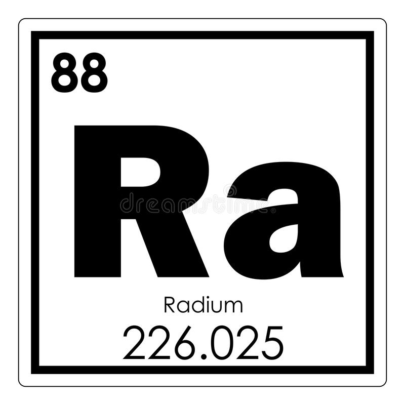 Radium chemical element vector illustration