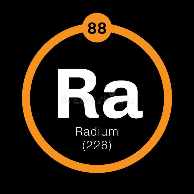 Radium chemisch element royalty-vrije illustratie