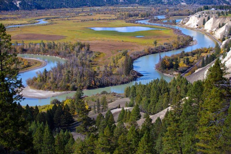 Radium Hot Springs, British Columbia arkivbilder