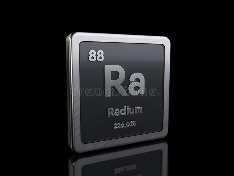 Radium Ra, element symbol from periodic table series stock illustration