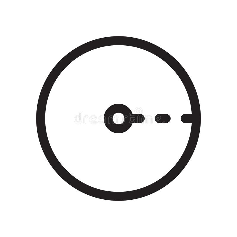 Radius of circle icon vector sign and symbol isolated on white background, Radius of circle logo concept vector illustration