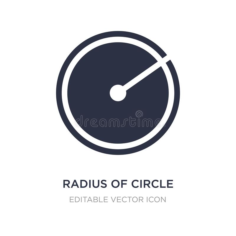 radius of circle icon on white background. Simple element illustration from Shapes concept royalty free illustration