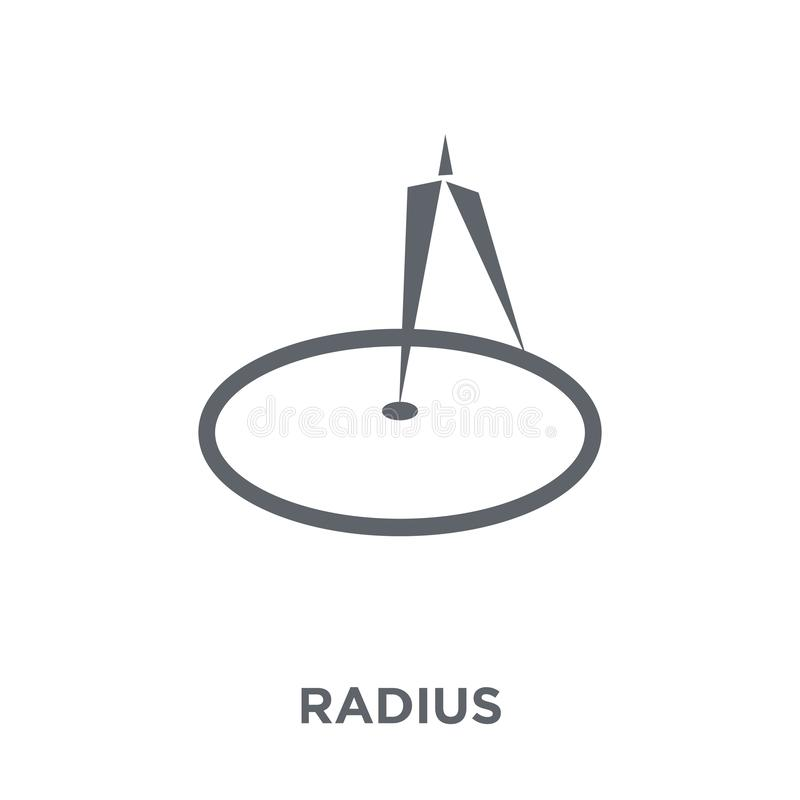 Radius icon from Geometry collection. royalty free illustration
