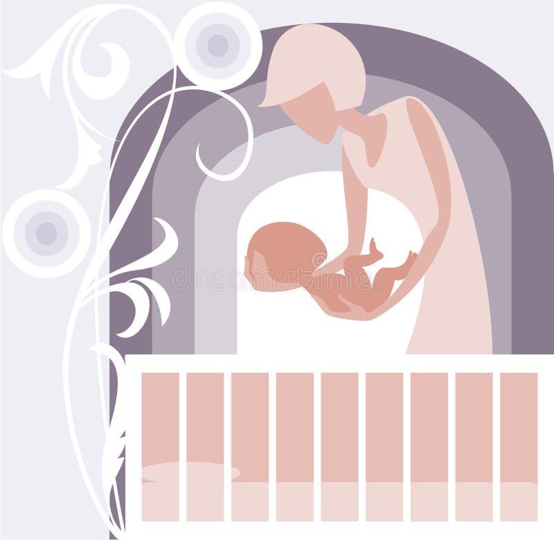 ?radle do bebê ilustração stock