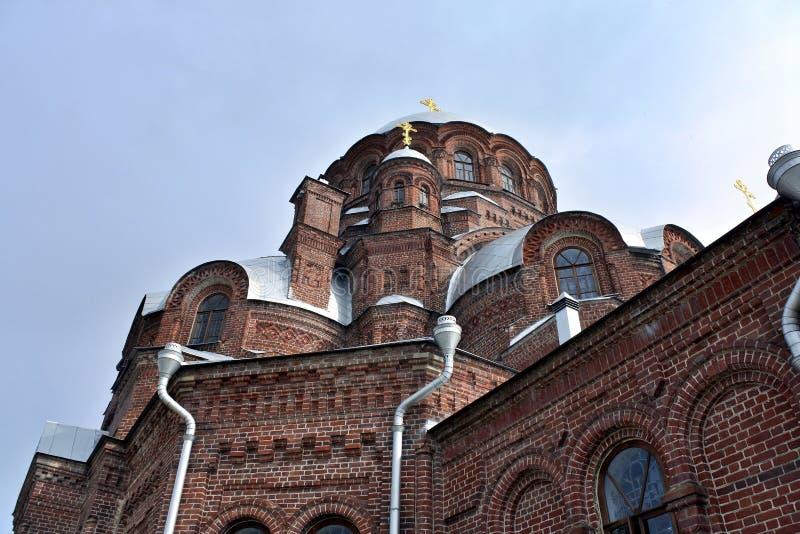 Radość wszystko który stroskanie katedra na wyspie Sviyazhsk w Wrześniu, 2016 obraz royalty free