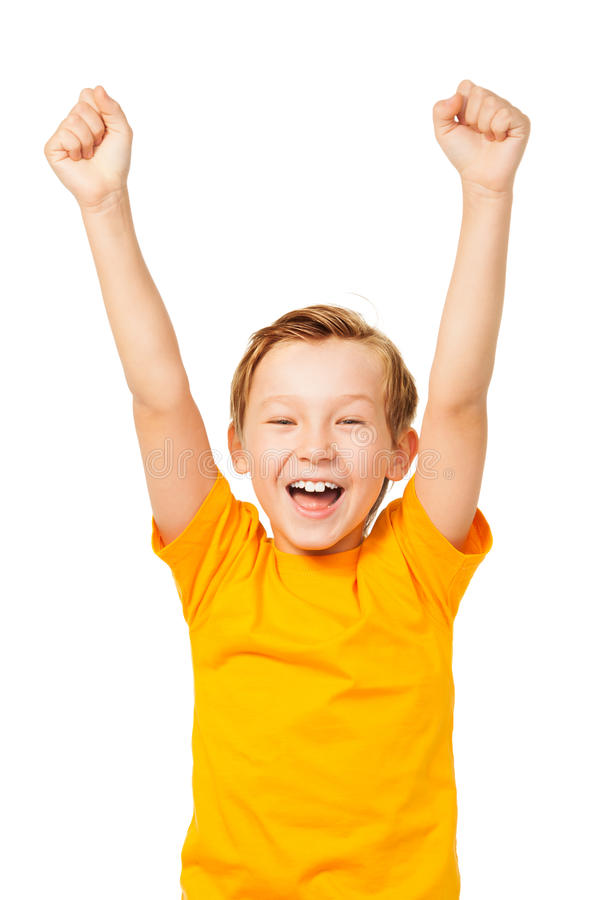 Radość zwycięstwo obraz stock