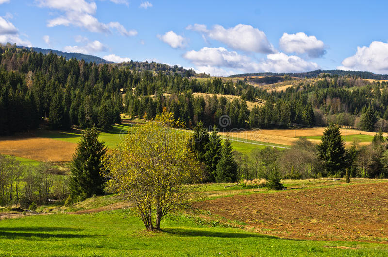 Radocelo mountain landscape at autumn sunny day. Central Serbia royalty free stock photo