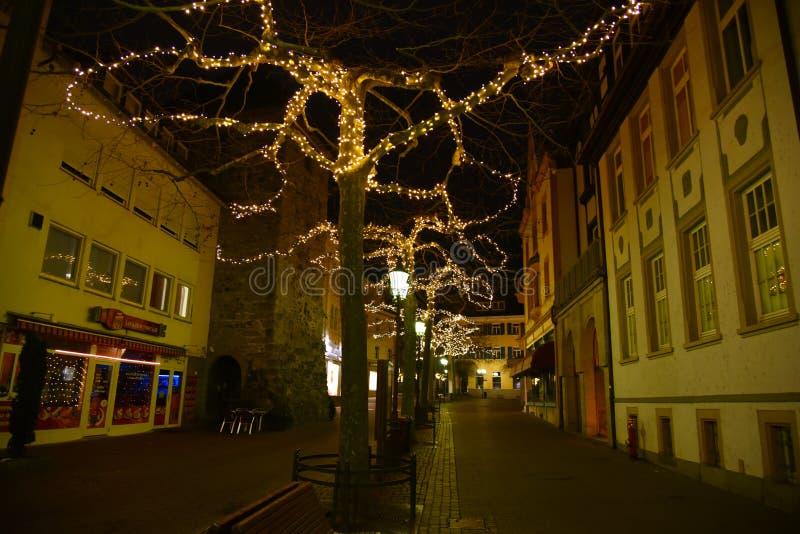 Radolfzell Τα φω'τα Χριστουγέννων στοκ φωτογραφία