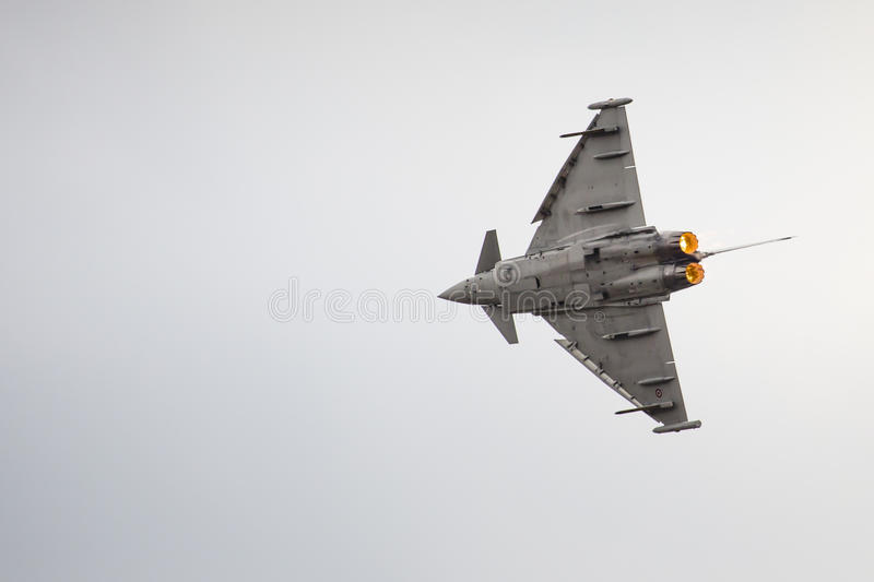 RADOM, POLAND - AUGUST 23: Italian EFA-2000 Eurofighter Typhoon stock images