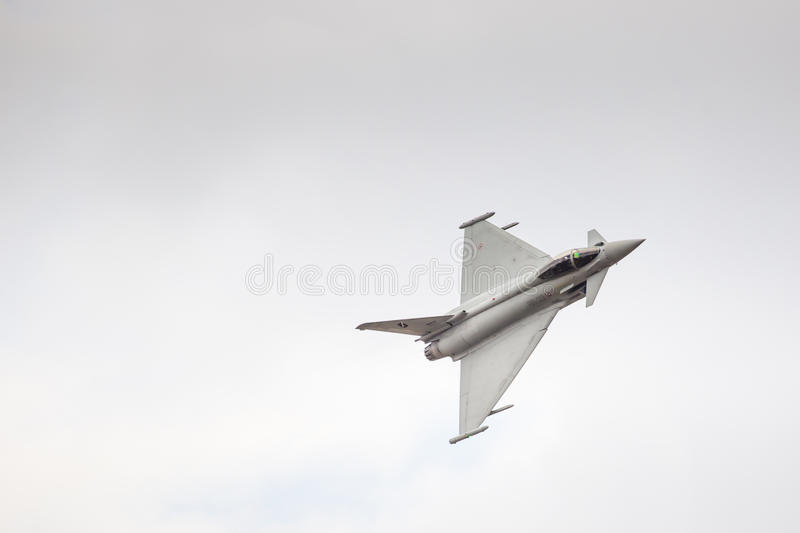 RADOM, POLAND - AUGUST 23: Italian EFA-2000 Eurofighter Typhoon royalty free stock photos