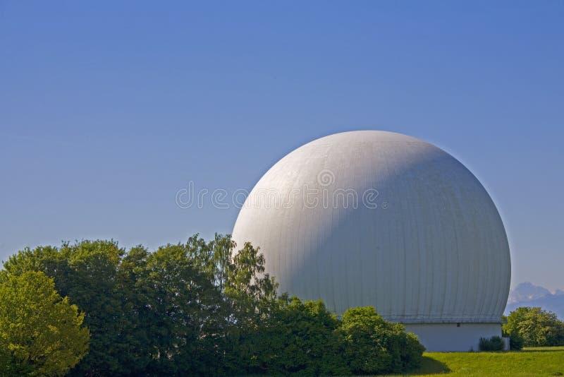 Radom in Raisting. The earth radio station in Raisting in Upper Bavaria royalty free stock photo
