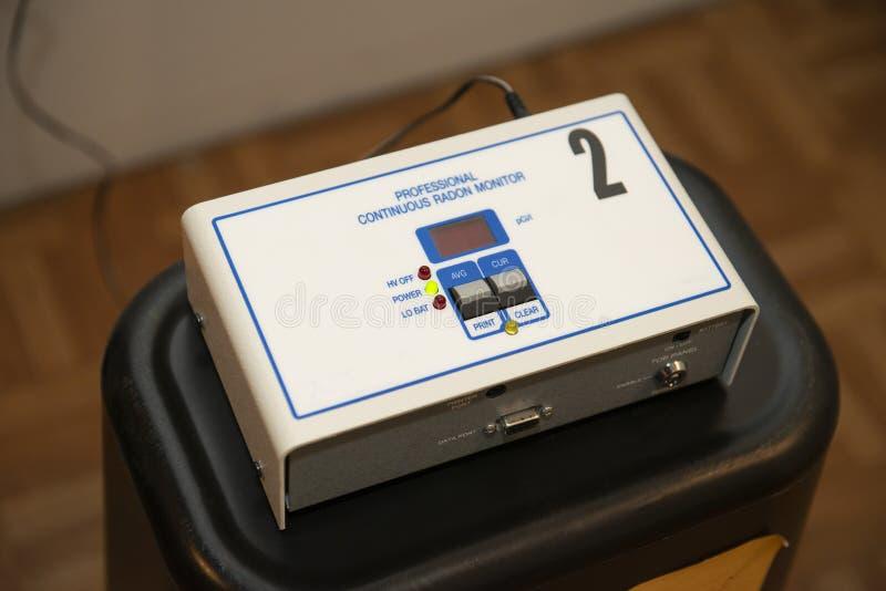Radon Testing Unit, Home, Cancer stock image