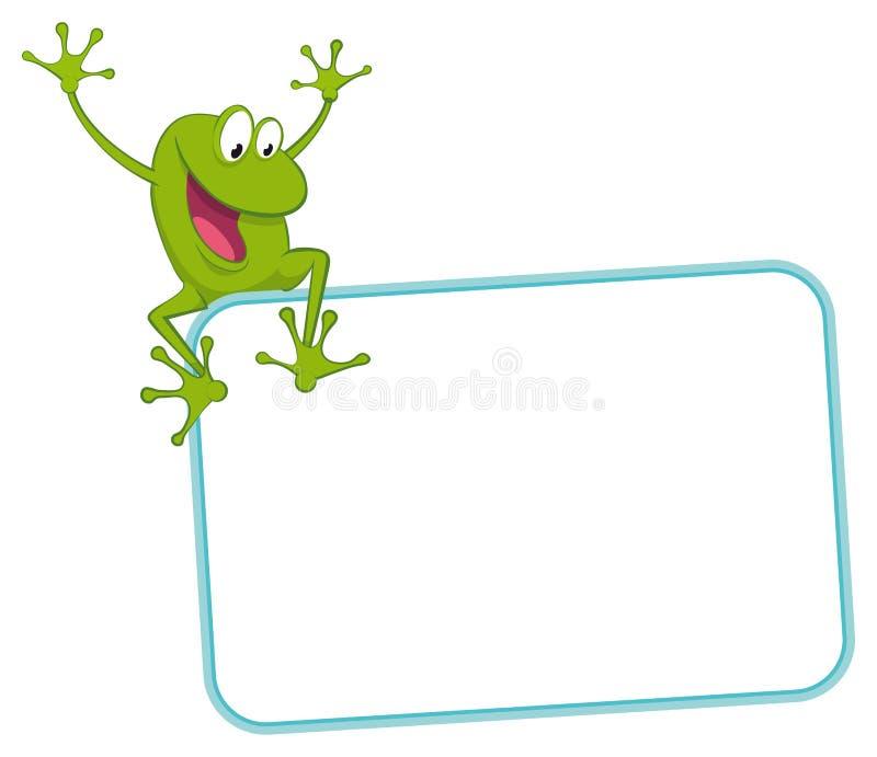 radosna żaby etykietka ilustracji