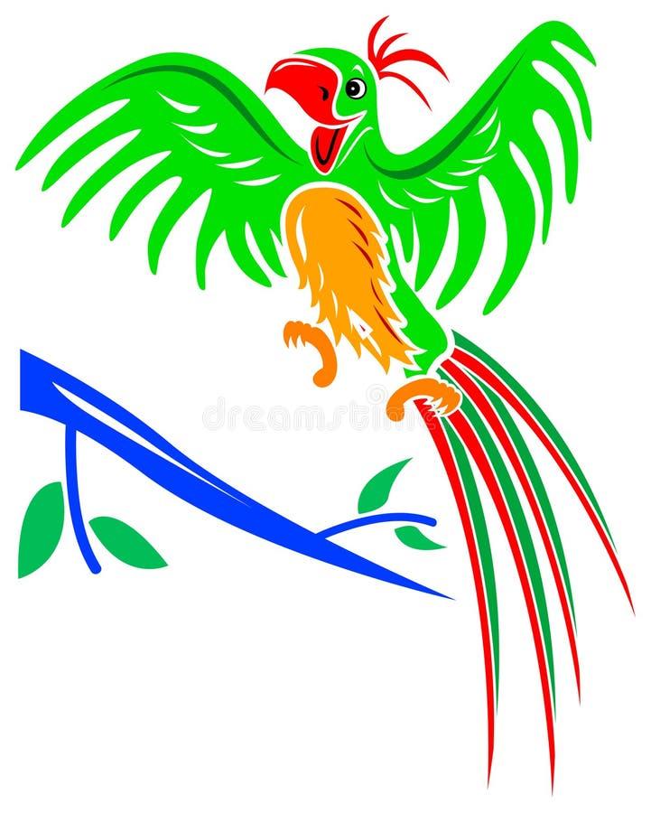 radosna papuga ilustracji