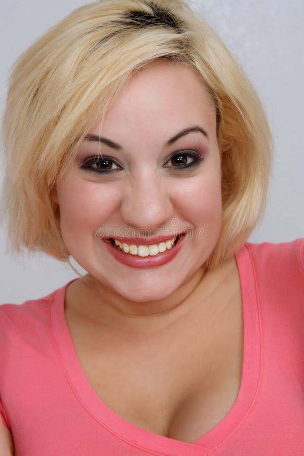 radosna piękna blondynka zdjęcie royalty free