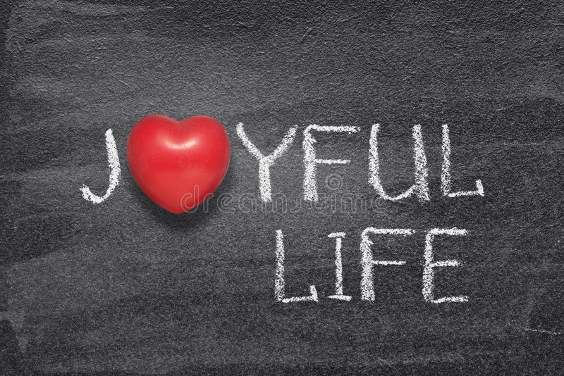 Radosny życia serce obraz royalty free