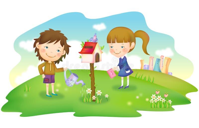 Radosny Życie ilustracja wektor