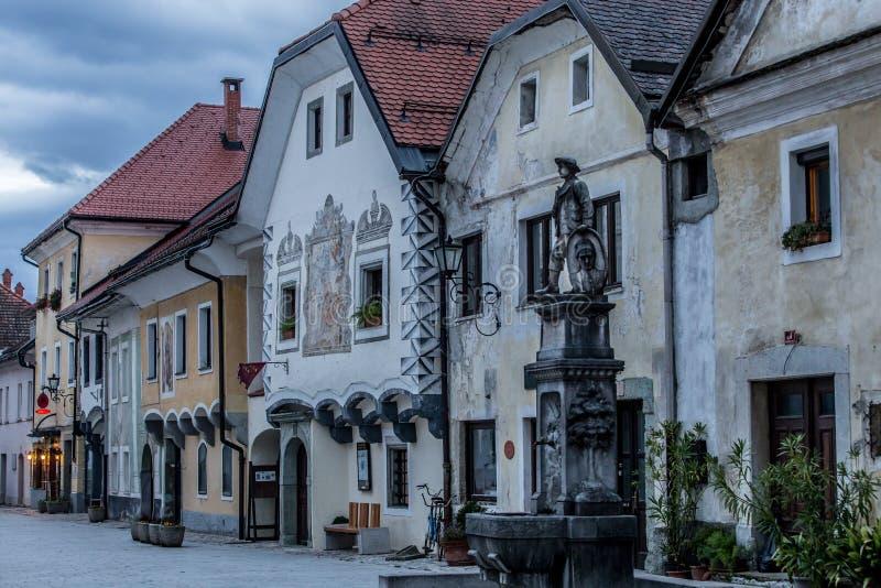Radoveljica镇,斯洛文尼亚 图库摄影