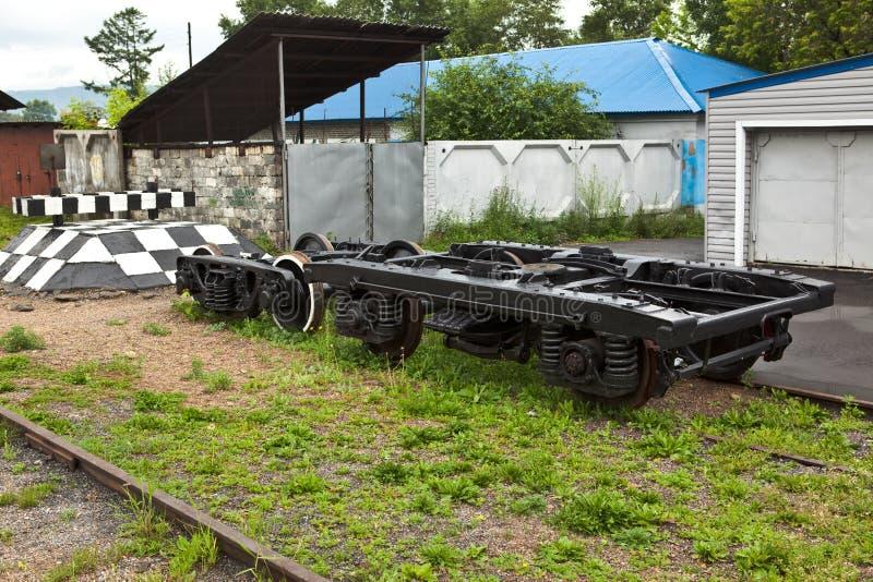 Radpaare das Bahnauto stockfotos