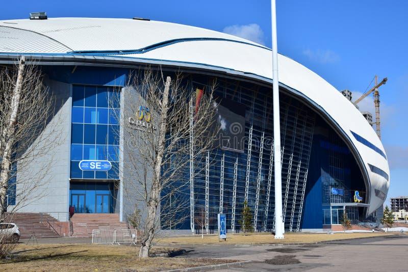 Radrennenbahn in Astana lizenzfreies stockfoto
