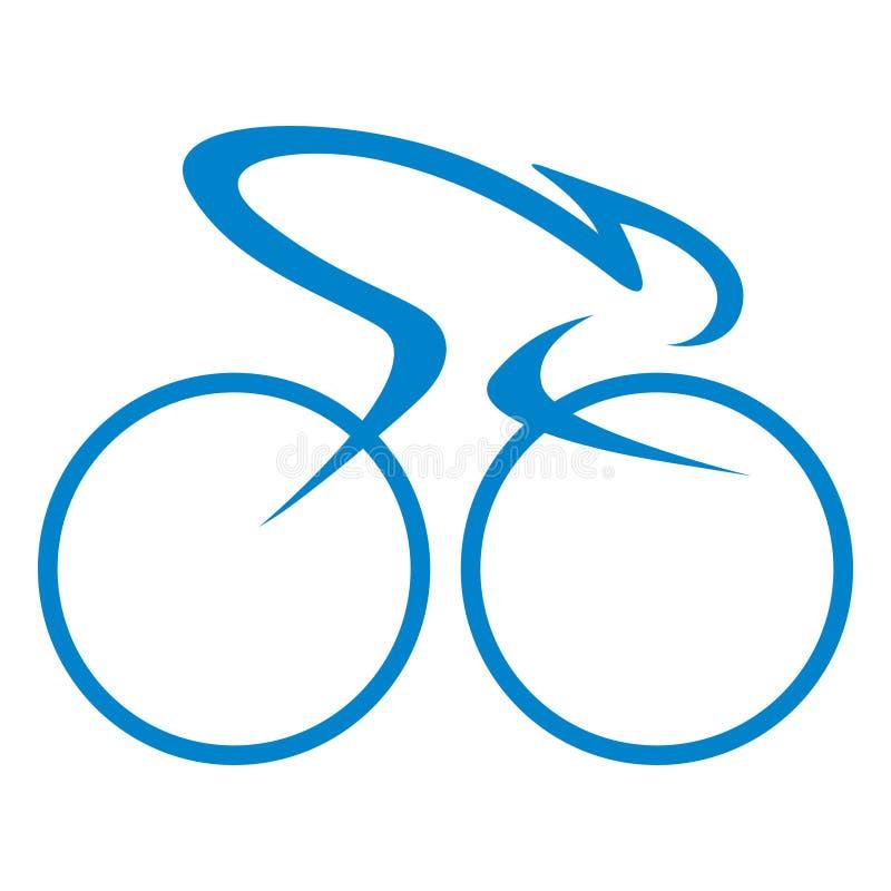 Radrennengrafikdesignlogo oder -ikone lizenzfreie abbildung