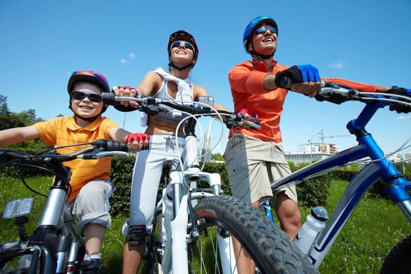Radsportteam stockfotos