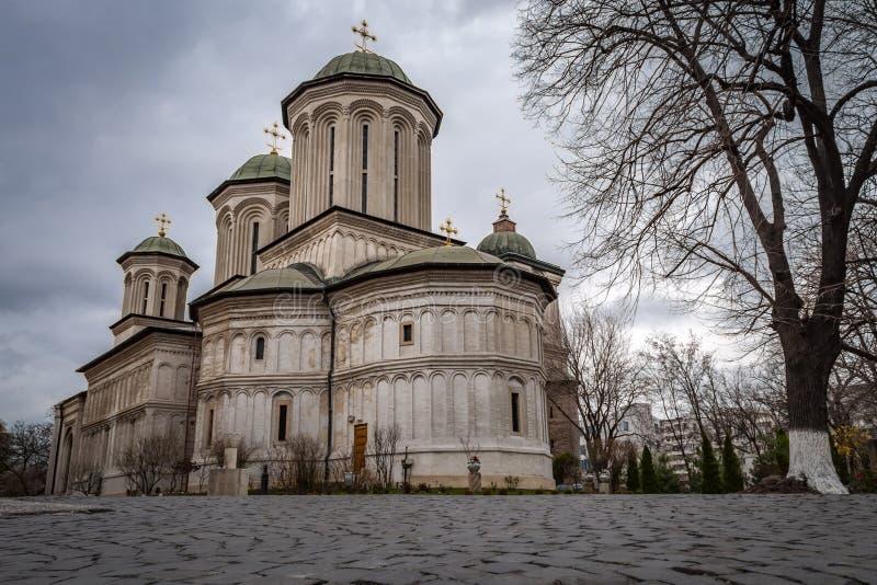 Radu Voda Monastery in Boekarest, Roemenië stock foto