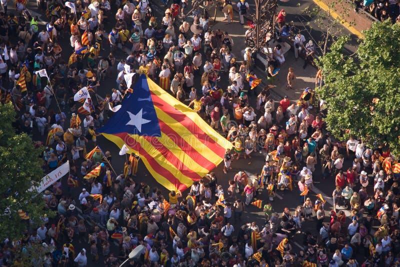 Raduno Catalan di indipendenza fotografia stock libera da diritti