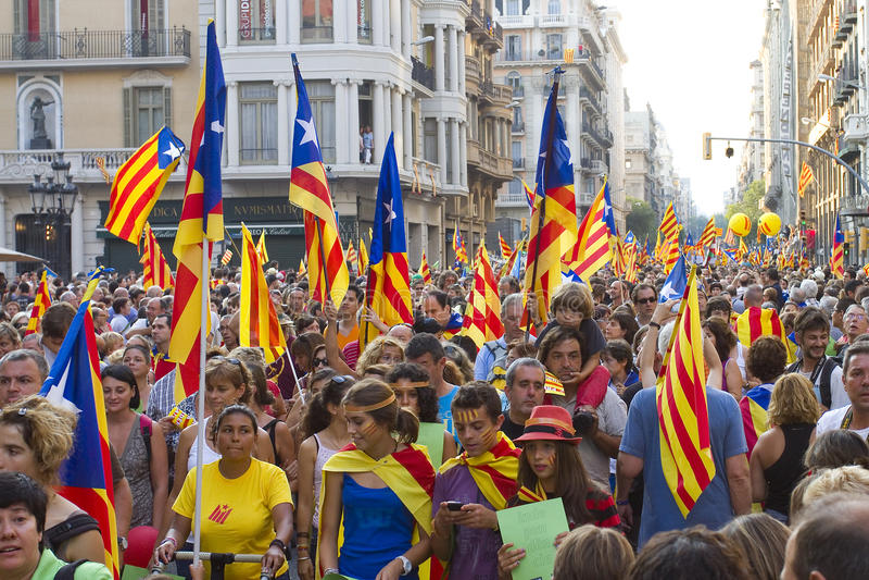 Raduno Catalan di indipendenza fotografia stock
