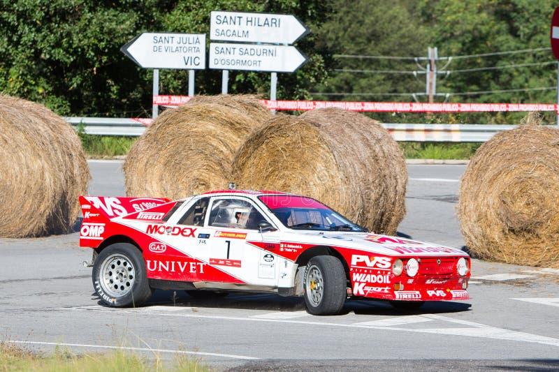 61 raduno Costa Brava. Campione di FIA European Historic Sporting Rally fotografia stock