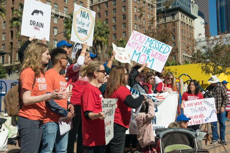 Raduno del ` s della gente di azione della domanda delle mamme contro la violenza fotografia stock libera da diritti