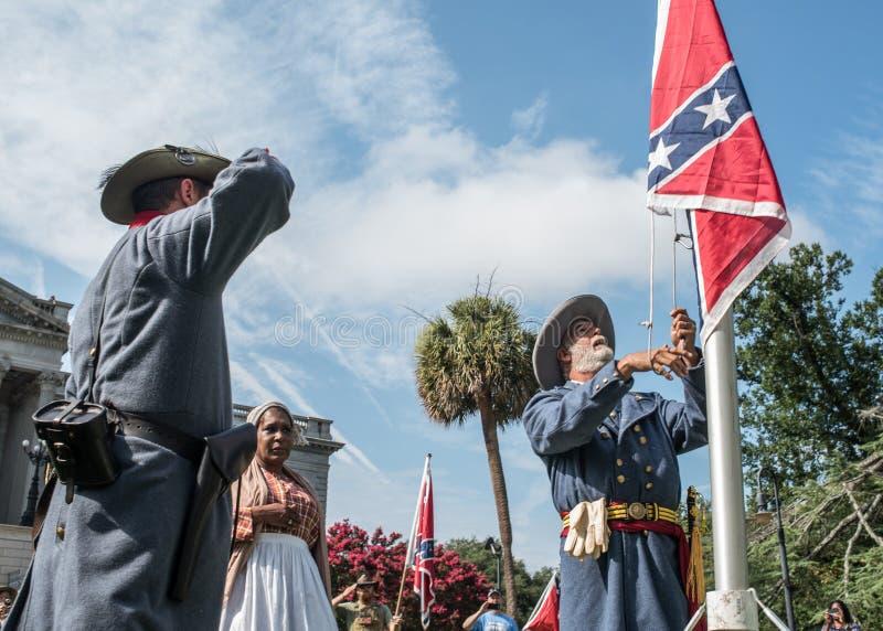 Raduno della bandiera confederata dello Sc immagine stock
