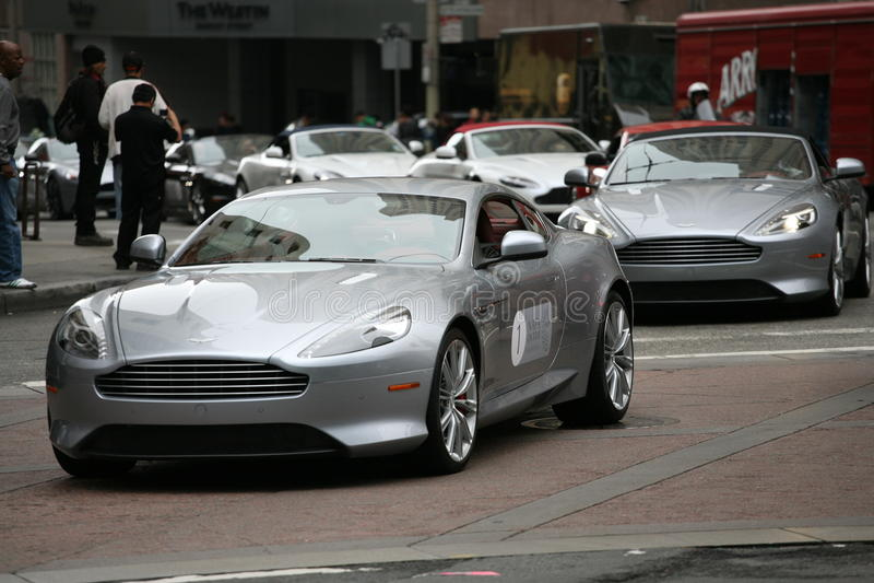 Raduno di Aston Martin a San Francisco fotografie stock