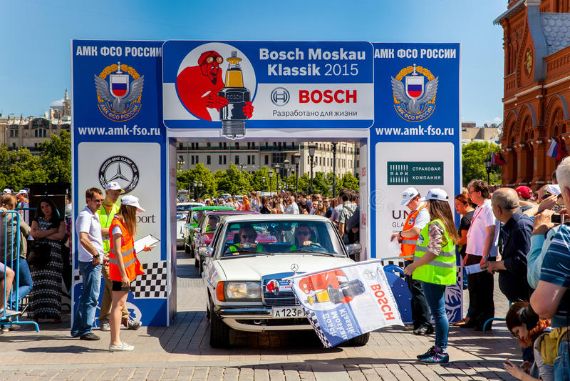Raduno 2015 di Bosch Moskau Klassik a Mosca, Russia immagini stock