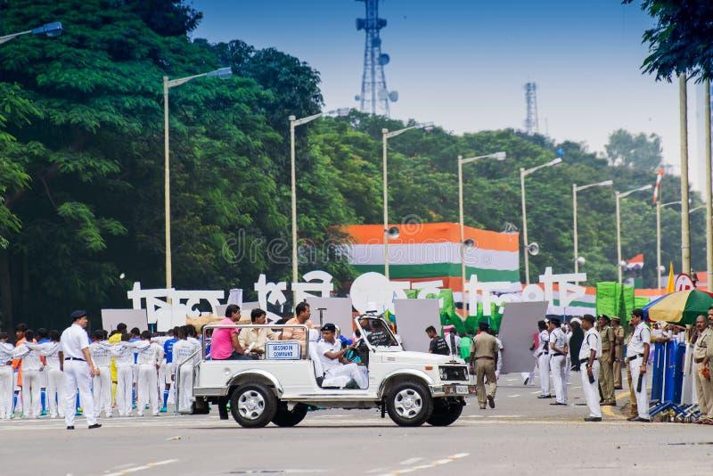 Raduno di celebraion di festa dell'indipendenza del ` s dell'India immagine stock libera da diritti
